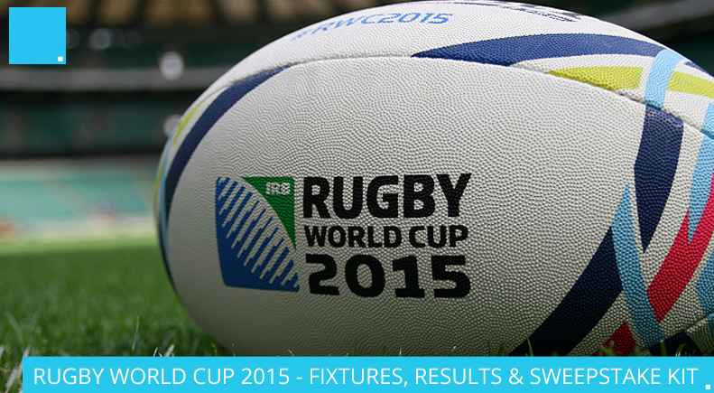 RUGBY WORLD CUP 2015 – FIXTURES, RESULTS & SWEEPSTAKE KIT